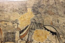 Eglise Chevry - peinture murale chevalier