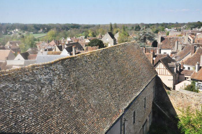 Ferrières en Gâtinais - vue du haut de l'eglise abbatiale