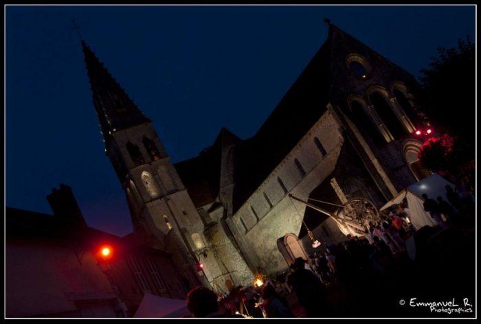 Abbaye lors des Nocturnes de Ferrières