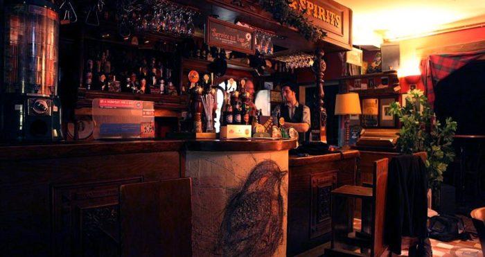 Intérieur du pub